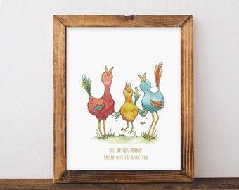 3 Little Birds - Bob Marley Nursery & Kids room Art - Musical Prints