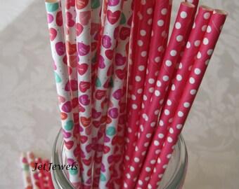 24 Paper Straws, Pink Paper Straws, Pink Polka Dots, Drinking Straws, Cake Pop Sticks, Mason Jar Straws, Barbecue Party, Farm Party