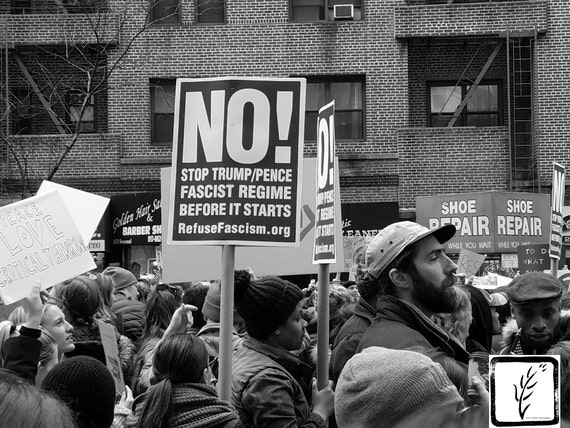 """No!"" New York City Women's March, 2017."