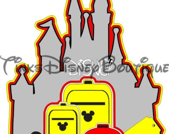 Disney SVG Title Disney Bound Castle Suitcase Disneyland Disney World Scrapbook Cricut Silhouette Print then Cut