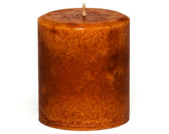 Handmade Cinnamon Orange Candle Pillar -  Decorative, 14 ounces - 397 grams