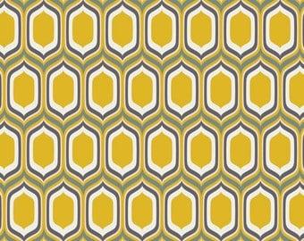Urban Mod - UR-80015 - Stenciled Retro Gold - Art Gallery Fabrics 100% Quilters Cotton