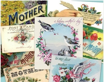 SALE MOTHERS DAY Collage Digital Images -printable download file-