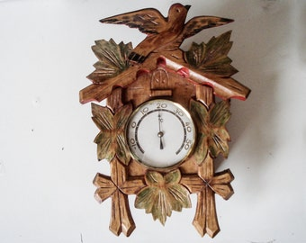 FOUND IN SPAIN - Celsius thermometer - Cuckoo clock look