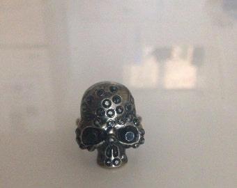 Awesome Sparkly Glam Goth Skull Ring