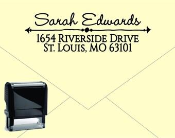 NEW for 2017 Self Inking Return Address Stamp * Custom Address Rubber Stamp (E029) Arrow