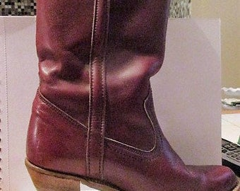Vintage DEXTER Brand COWGIRL BOOTS, Quality, Leather, Sz. 7