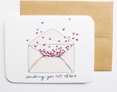 Sending you lots of love card with envelope