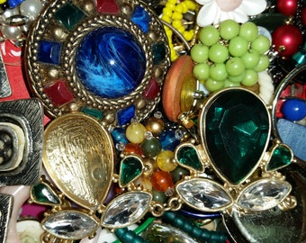 Vintage Jewelry Junk Lot for Craft Art Mixed Media Repurpose Assemblage Altered Art etc....