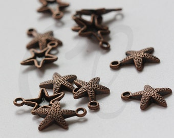 30pcs Antique Copper Tone Base Metal Charms-Sea Star 16.5x12mm (463Y-L-152)