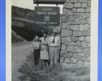 White River National Forest 1948 Colorado Vacation B & W Photo Snapshot 15962