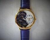 Women's Watch with Purple Lavender, Watch for Women, Pressed Flower Watch, Watches for Women, Floral Watch, Gardening Watch, Lavender Watch
