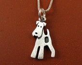 Tiny fox terrier necklace / pendant  (makes a great Airedale, too)