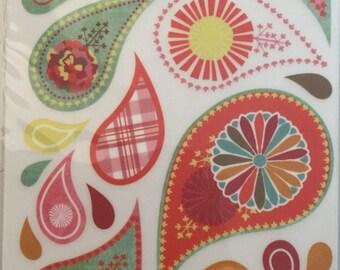 CLOUD 9 DESIGN Rub On Transfers - Scrapbook Embellishments - Paisley Rub On Transfers