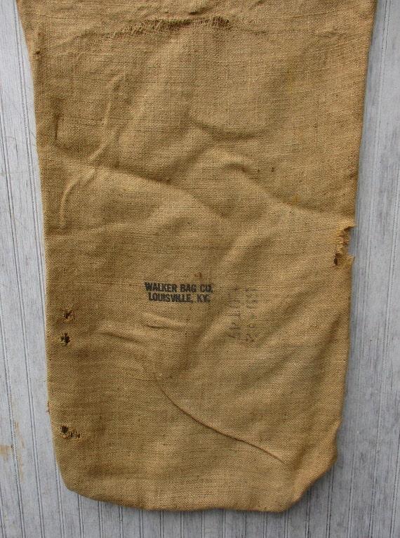 Vintage Burlap Bag Gunny Sack Tow Sack Grain Sack Feed