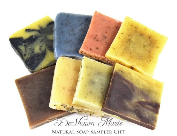 Natural soap gift set, vegan soap samples, organic soap sampler, cold process soap, Christmas soap gift, All natural soap