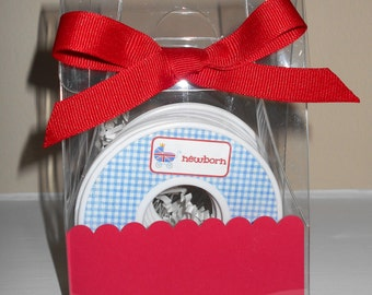 Baby Closet Dividers-set of 9 BRITISH THEMED in Acrylic Gift Box