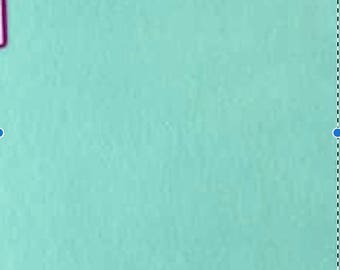 Mint Green Felt Sheets