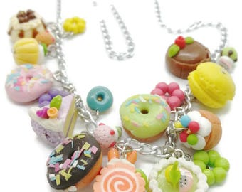 Endless Sweet Miniature Foods Necklace, 30.0 USD now only 17.0 USD