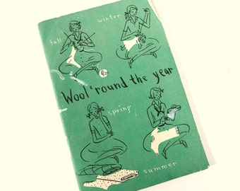 Vintage 1940's Wool 'Round the Year Girl Scout Booklet Pamphlet