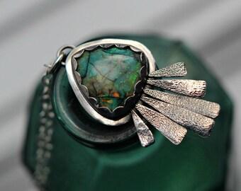 Monarch Opal Fringe Pendant