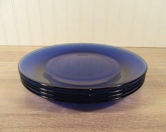 Cobalt Blue Plate Etsy