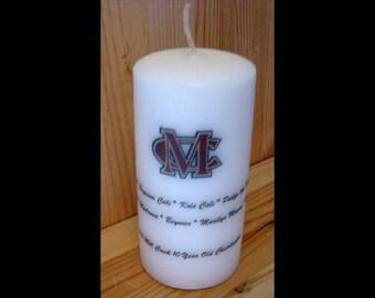 Youth Sports Gift, Team Mom, Coach, Personalized Candle, Cheerleading, Softball, Basketball, Football, Teacher Gift, High School Club