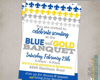 Cub scout printables etsy for Cub scout blue and gold program template