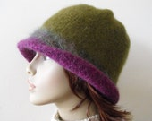 Woman's Wool Felted Hat Stylish Fashion Knitted Trendy Cloche