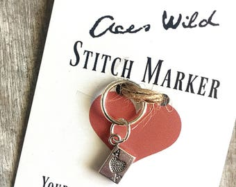 Ace's wild stitch marker, 12 mm snag free