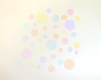 Sherbet Fizz dots wall decals – fabric wall stickers – medium