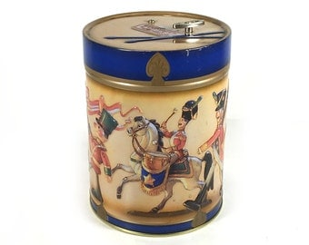 "German Cookie Tin / Music Box, ""Have Yourself a Merry Little Christmas"" -  Perfect for Holiday Gift Giving"