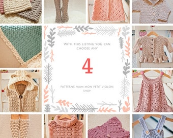 Pattern Package - choose any 4 crochet patterns