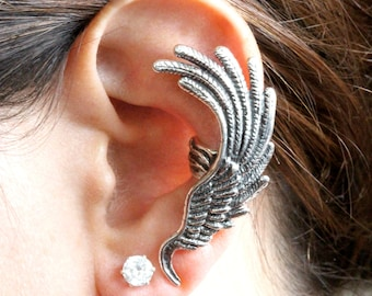 Angel Wing Ear Cuff Wing Earring Wing Jewelry Bird Jewelry Feather Jewelry Feather Earring Angel Earring Bird Feathers Heavenly Jewelry Wrap