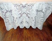 Quaker Lace Netting Lace Overlay Lace Tablecloth #4370 Gala Pattern  ECS SVFT