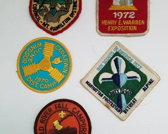 Vintage Boy Scout Patches, Set of Boy Scout Patches, Retro Cub Scout Patches, Boy Scouts 1970s, Instant Collection, Movie Props, Man Cave