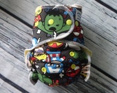 Stay Dry One Size Overnight Fitted Cloth Diaper in Marvel Kawaii
