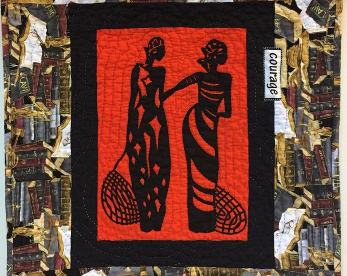 A Womannof Sophisticated Substance #9 art quilt