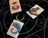 Gold Tarot Spreadcloth for The Wooden Tarot Earthbound Oracle Seeker's Lenormand