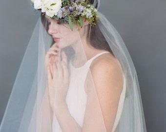 Drop Wedding Veil, Simple Tulle Veil, Circle Veil Two Tier Bridal Veil, Cathedral Veil, Long Veil Bridal Accessory, Wedding Hair, Veil #1106