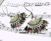 Tourmaline Bohemian Chandelier Earrings