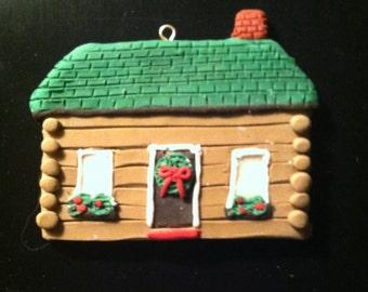 Log Cabin Ornament - Small