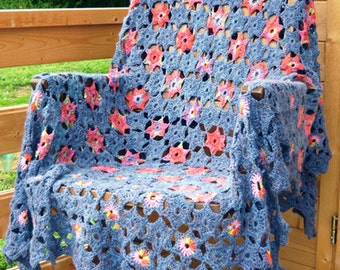 Starry Night Crochet Afghan/Blanket  - PDF CROCHET PATTERN