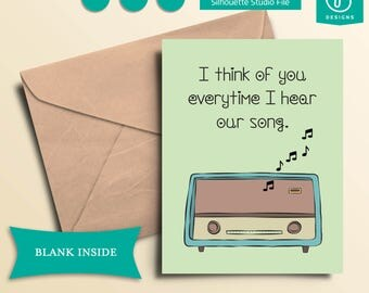 Printable Our Song Greeting Card