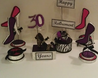 High Heel Shoe Centerpiece Set ,Wedding Centerpieces, Shoe Party Centerpieces