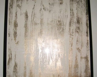 Golden Wood ..Magnetic Steel Dry Erase Memo Board /Housewarming Gift / Office Decor / Desk / Organization / Wall Hanging / Message Board