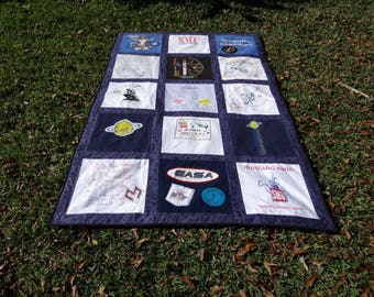 T Shirt Quilt with 15 Squares and Extras