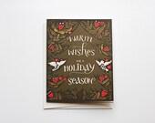 Warm Wishes for a Holiday Season - Xmas Tree Card