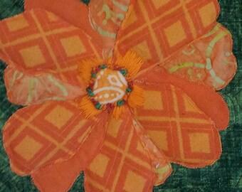 Flower Art - Flower Wall Art - Flower Artwork - Flower Wall Decor - Flower Quilt - Nature Art - Nature Lover Gift - Nature Decor - Art Quilt