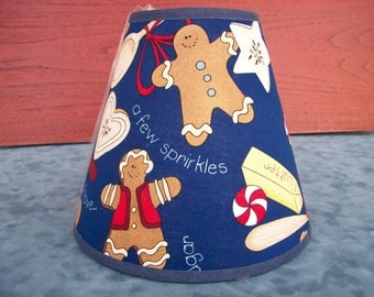 Gingerbread Theme - Navy - Lampshade
